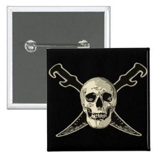 Pirate (Skull) - 2 Inch Square Button 15 Cm Square Badge