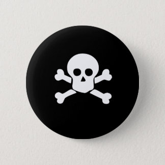 Pirate Skull and Cross bones button