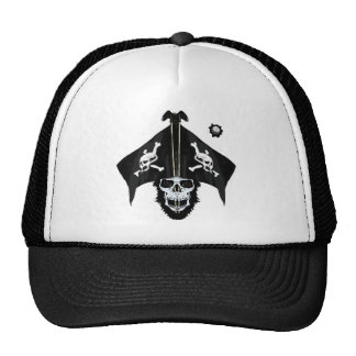 Pirate skull and cross bones trucker hats