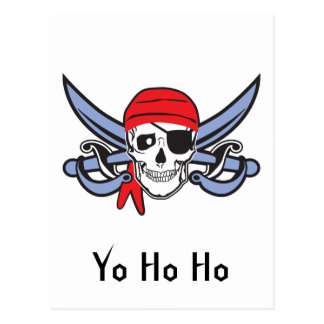 Pirate Skull and Cross bow Postcard