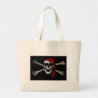 Pirate Skull And Crossbones Canvas Bags