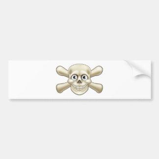 Pirate Skull and Crossbones Cartoon Bumper Sticker