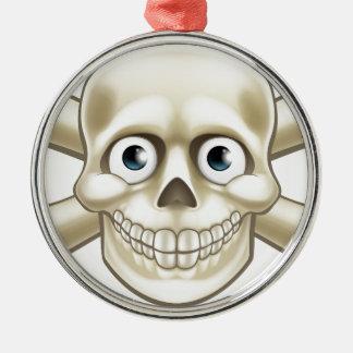 Pirate Skull and Crossbones Cartoon Christmas Ornament