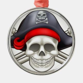 Pirate Skull and Crossbones Christmas Ornament