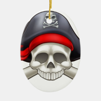 Pirate Skull and Crossbones Christmas Ornament