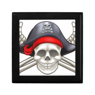Pirate Skull and Crossbones Gift Box
