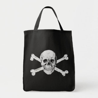 Pirate Skull and Crossbones Grocery Tote Bag