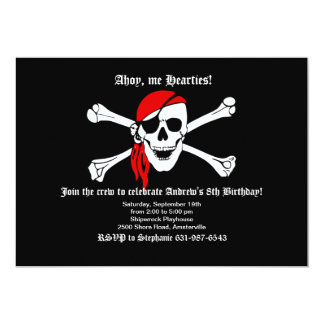 Pirate Skull and Crossbones Invitation