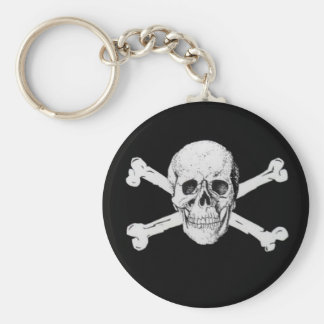 Pirate Skull and Crossbones Key Ring