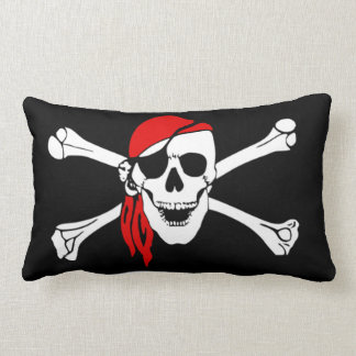 Pirate skull and crossbones lumbar cushion