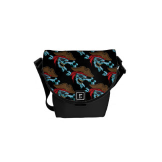 Pirate Skull and Crossbones Courier Bag