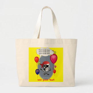 Pirate Skull and Crossbones party Canvas Bag