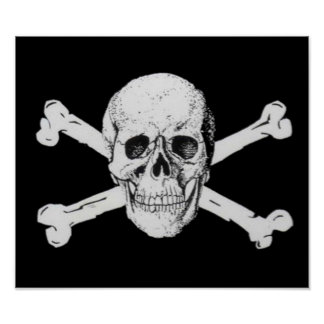 Pirate Skull and Crossbones Poster