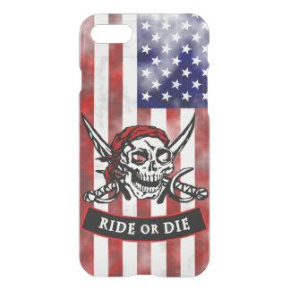 Pirate Skull and Crossbones Ride or Die iPhone 8/7 Case