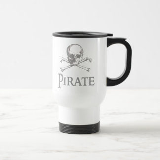 Pirate Skull and Crossbones Travel Mug