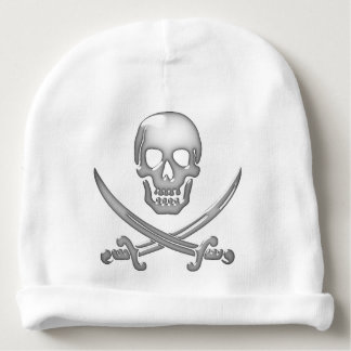 Pirate Skull and Sword Crossbones (TLAPD) Baby Beanie