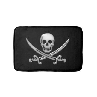 Pirate Skull and Sword Crossbones (TLAPD) Bath Mat