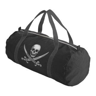 Pirate Skull and Sword Crossbones (TLAPD) Gym Duffel Bag