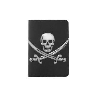 Pirate Skull and Sword Crossbones (TLAPD) Passport Holder