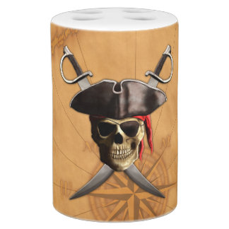 Pirate Skull And Swords Bathroom Set