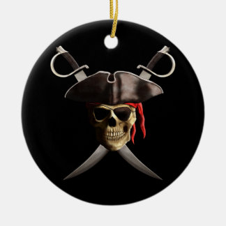 Pirate Skull And Swords Christmas Ornament