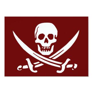 Pirate Skull and Swords,Jolly Roger 13 Cm X 18 Cm Invitation Card