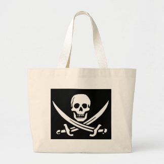 Pirate Skull and Swords Large Tote Bag