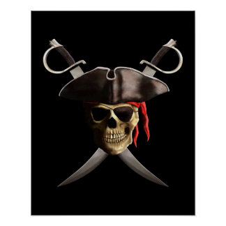 Pirate Skull And Swords Poster