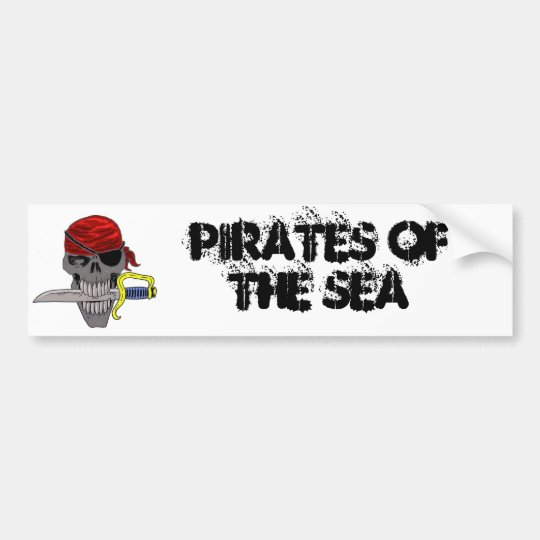 Pirate Skull Art Bumper Sticker