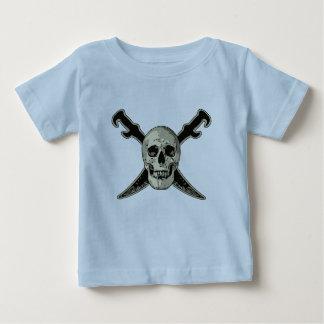 Pirate (Skull) - Baby Fine Jersey T-Shirt