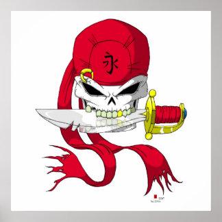 Pirate Skull Bandana Poster