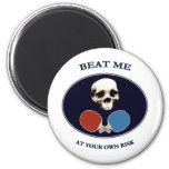 Pirate Skull Beat Me Ping Pong Magnets