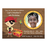 Pirate Skull Birthday Photo Template Personalised Announcements