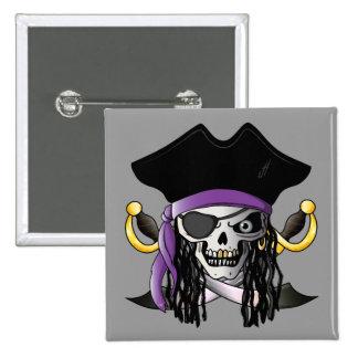 'Pirate Skull' Button