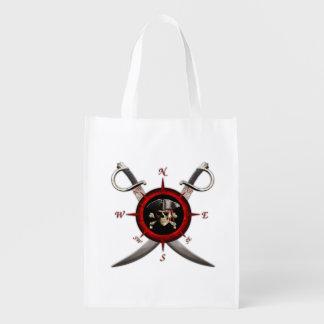 Pirate Skull Compass Rose