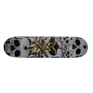 Pirate skull cool skateboard design