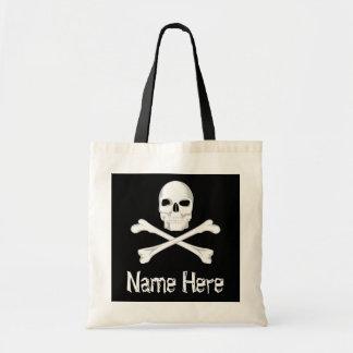 Pirate Skull Crossbone Custom Name Halloween Treat