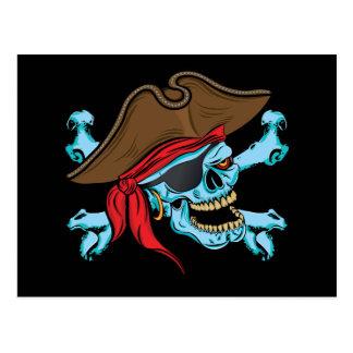 Pirate Skull & Crossbone Postcard