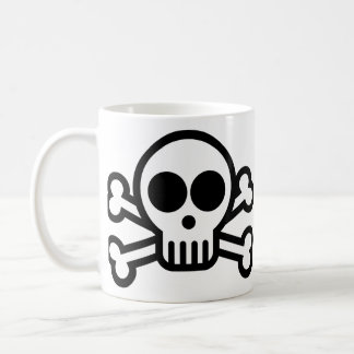 Pirate Skull & Crossbones Coffee Mug - 325ml