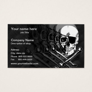 Pirate Skull & Crossbones Template Business Card