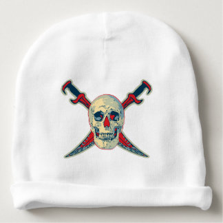 Pirate (Skull) - Custom Baby Cotton Beanie Baby Beanie