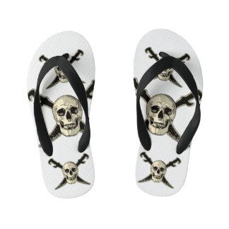 Pirate (Skull) - Custom Flip Flops, Kids Flip Flops
