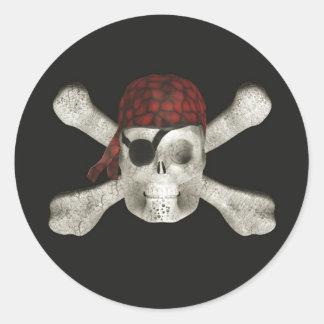 Pirate Skull - Halloween Stickers