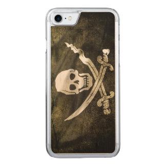 Pirate Skull in Cross Swords Carved iPhone 8/7 Case