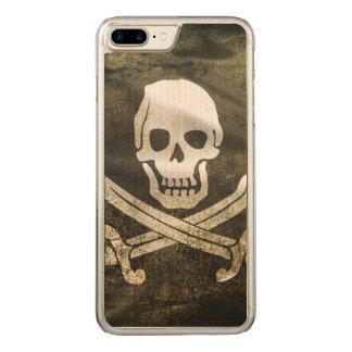 Pirate Skull in Cross Swords Carved iPhone 8 Plus/7 Plus Case