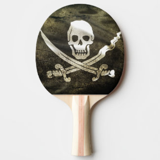 Pirate Skull in Cross Swords Ping Pong Paddle