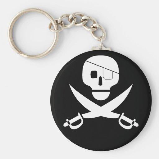 Pirate Skull Keychain