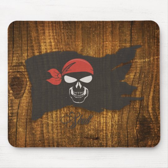 pirate skull mouse mat