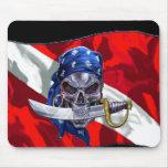 Pirate Skull on Dive Flag