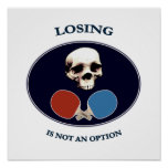 Pirate Skull Option Ping Pong Poster